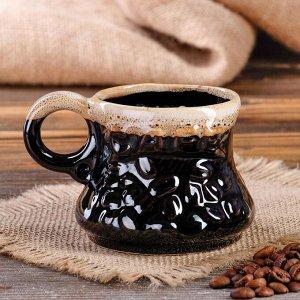 """Кофейный набор """"Фонк"""", 3 предмета: турка 0.65 л, чашки 0.17 л, микс"""