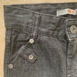 Брюки джинсовые цвет черный