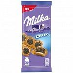Шоколад Milka Oreo молочный с начинкой 92г