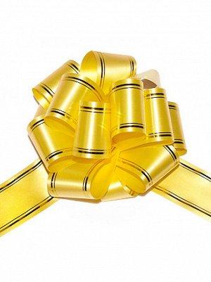 Бант шар 503/01-30 с золотой полосой цвет желтый 50В 50 мм