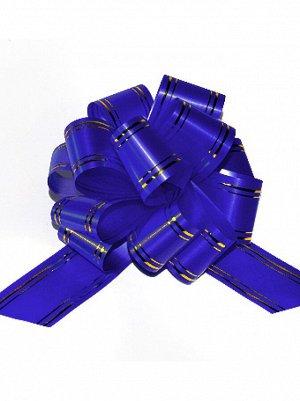 Бант шар 503/01-55 с золотой полосой синий 50 мм 50В