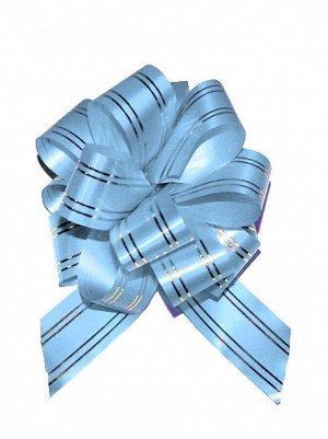 Бант шар 323/50 с золотой полосой цвет голубой