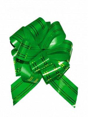 Бант шар 323/45 с золотой полосой цвет зеленый