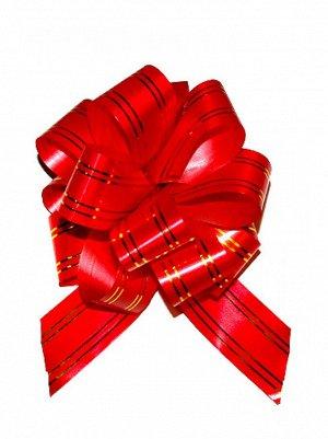 Бант шар 323/20 с золотой полосой цвет красный  32В