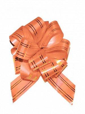 Бант шар 323/35 с золотой полосой цвет оранжевый