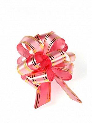 Бант шар 323/20 с золотой полосой цвет розовый 32В