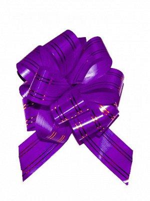 Бант шар 323/65 с золотой полосой цвет фиолетовый 32В