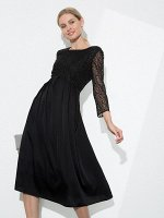 Платье А-силуэта с кружевным лифом PL1119/embro