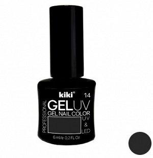 КК Гель - лак GEL UV & LED №14 черный Professional (для сушки в лампе) 6мл