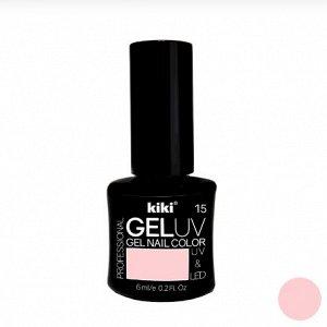 КК Гель - лак GEL UV & LED №15 светло-розовый Professional (для сушки в лампе) 6мл