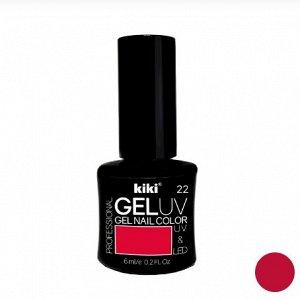 КК Гель - лак GEL UV & LED №22 классический красный Professional (для сушки в лампе) 6мл
