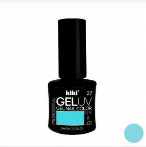 КК Гель - лак GEL UV & LED №27 небесно-голубой Professional (для сушки в лампе) 6мл