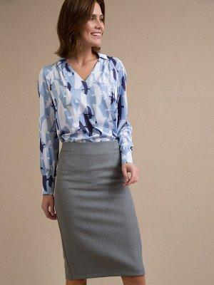 Юбка Состав ткани: Вискоза 60%, Полиэстер 37%, Спандекс 3% Длина: 65 См. Описание модели Классическая юбка-карандаш серого цвета. Есть подкладка, сзади расположена шлица. Юбка красиво облегает фигуру