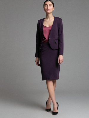 Юбка Состав ткани: Вискоза 60%, Полиэстер 37%, Эластан 3% Длина: 60 См. Описание модели Фиолетовая юбка-карандаш. Зауженная модель средней посадки с втачным поясом. Сзади в среднем шве расположена зас