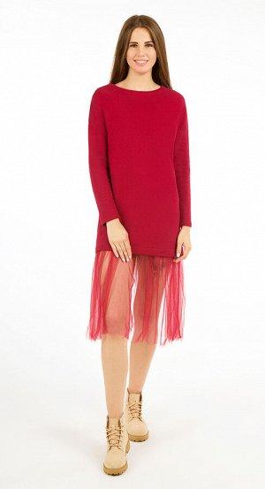 Платье женское 2465/04/Бордовый