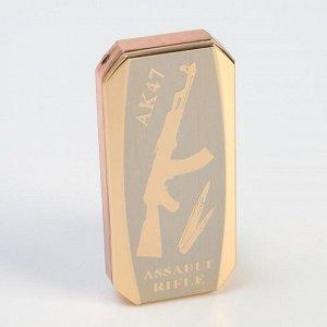 """Зажигалка электронная """"АК-47"""" в подарочной коробке, спираль, прямоугольная, 8 * 3 * 12.5 см"""