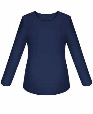 Школьный джемпер (блузка) для девочки Цвет: тёмно-синий