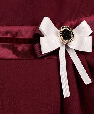 Бордовый школьный сарафан для девочки Цвет: Бордовый
