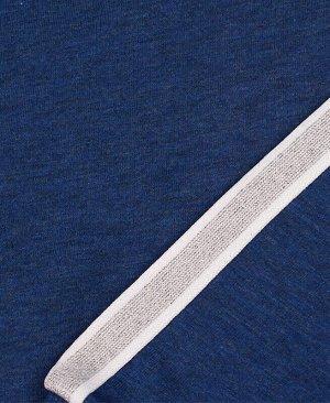 Джемпер с лампасами для девочки,синий меланж Цвет: синий меланж