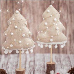 Ёлки на подставке «Снежный лес», набор для шитья, 10,5 ? 16 ? 5 см