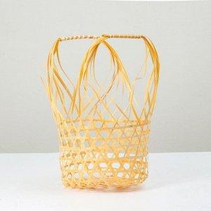 Корзина плетеная, 24х17х13/36, бамбук