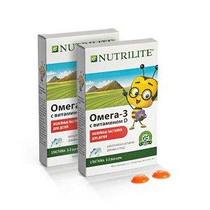 Месячный запас NUTRILITE™ Омега-3 с витамином D в форме детских желейных пастилок