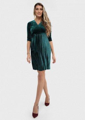 """Платье """"Виксен"""" для беременных и кормящих; изумруд"""