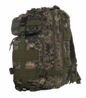 Походный рюкзак камуфляжа Digital Woodland (15-20 л) (CH-013) №146А - Система подвески базируется на удобных, мягких, регулируемых, быстросъемных лямках, грудном и поясном ремнях, которые предотвращаю