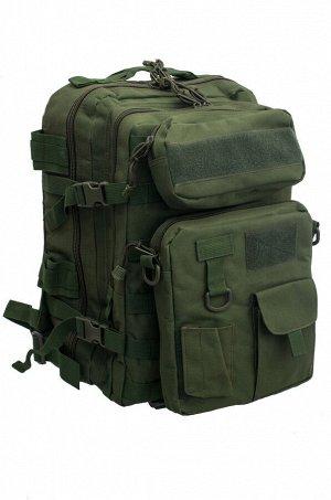 Армейский рюкзак с подсумками (30 литров, олива) (CH-068) №37- Полноценная тактическая модель 3-в-1: удобный рюкзак, навесная сумка-планшет и поясная сумка. Все дополнительные комплектующие крепятся н