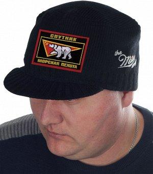 Фирменная кепка осень-зима от Miller Way с нашивкой «Морская пехота, Спутник» - мужской головной убор, каким он ДОЛЖЕН быть!