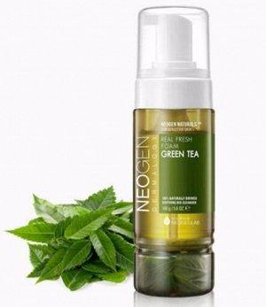 Neogen Dermalogy Real Fresh Foam Green Tea Успокаивающая пенка для умывания с экстрактом зеленого чая 160 г.