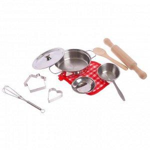 Набор металлической посудки «Маленький повар»