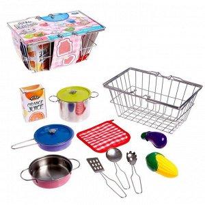 Набор металлической посуды «В корзинке»
