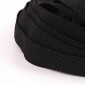 Лента эластичная, 20 мм, 25 ± 1 м, цвет чёрный