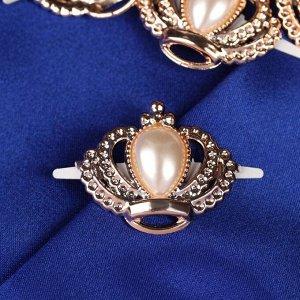 Декоративные элементы на прокол «Короны», 4 ? 3,5 см, 10 шт, цвет золотой