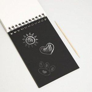 Блокнот-гравюра «Пандамания», 10 листов, штихель