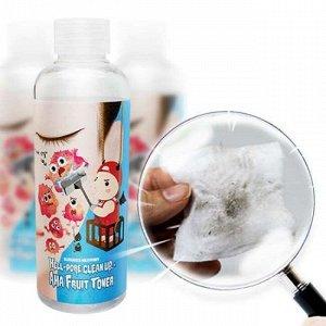 Тоник-пилинг с фруктовыми кислотами ELIZAVECCA Hell-Pore Clean Up AHA Fruit Toner, 200мл