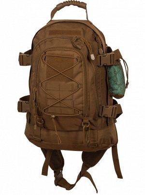 Армейский тактический рюкзак с гидратором 3-Day Outback Coyote (40-60 л) - Основной отсек расширяется с 39 литров до 62 литров. Полностью водостойкий и изностоустойчивый нейлон 600D гарантирует длител