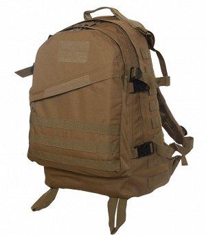 Многофункциональный мужской рюкзак (30 литров, койот) - Невероятно прочная и легкая модель тактического рюкзака с использованием новейших технологий. Отсеки рассчитаны на максимально возможную нагрузк