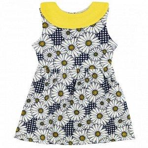 Платье Принт может отличаться. Ткань: интерлок Производство: Россия Белые ромашки;Зеленые бабочки;Фиолетовый (леопард)