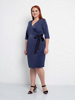 Платье 0150-1 темно-синий
