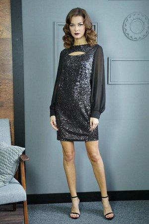 Платье Платье Fantazia Mod 3817  Состав: ПЭ-100%; Сезон: Осень-Зима Рост: 164  Нет ничего прекраснее и обворожительнее, чем вечернее платье. Короткое платье просто незаменимо для создания модного лук