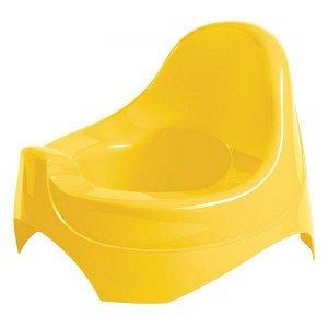 Горшок Бытпласт, цвет желтый