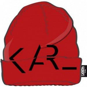 Шапка Вязаная шапка из полиэстера / полиамида / хлопка / шерсти 09B - BLACK * 963 - DEEP RED
