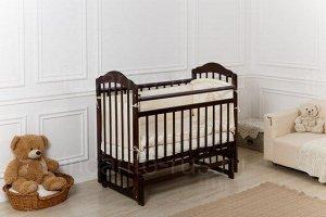 Кроватка Incanto Pali поперечный маятник, цвет темный