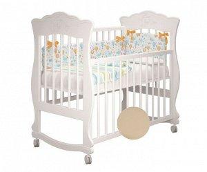 Кроватка МЛК Елена колесо, базовый комплект, цвет белый