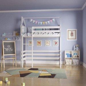 Кровать Чердак-домик 160*80 белый