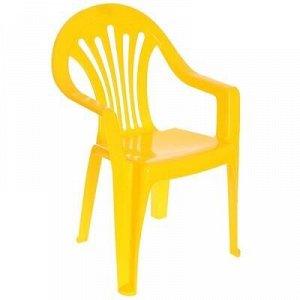 Стульчик детский пластиковый, цвет желтый