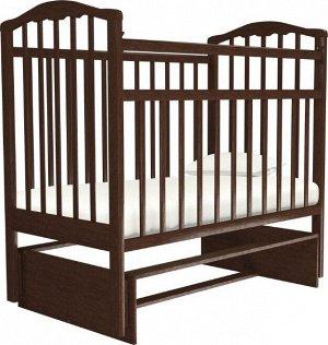 Кроватка Агат Золушка-3, поперечный маятник, цвет шоколад
