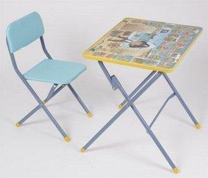 *Набор мебели Фея досуг №301 Пират, стульчик и столик, цвет голубой